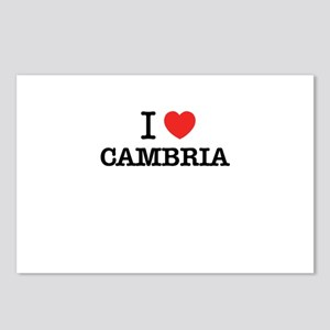I Love CAMBRIA Postcards (Package of 8)
